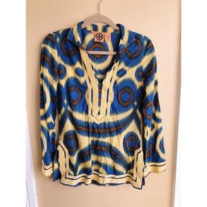 Tory Burch printed blouse size XS